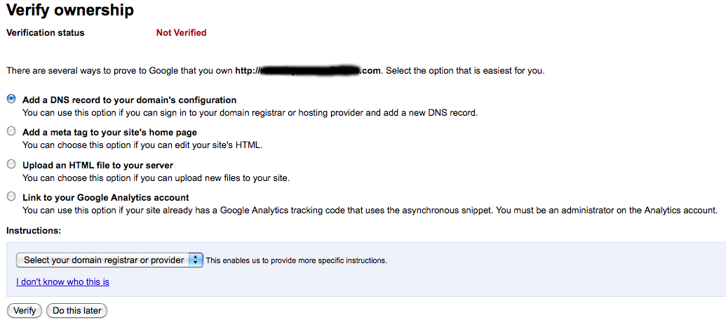 Google Apps Gmail for your own Domain Name: Step 6