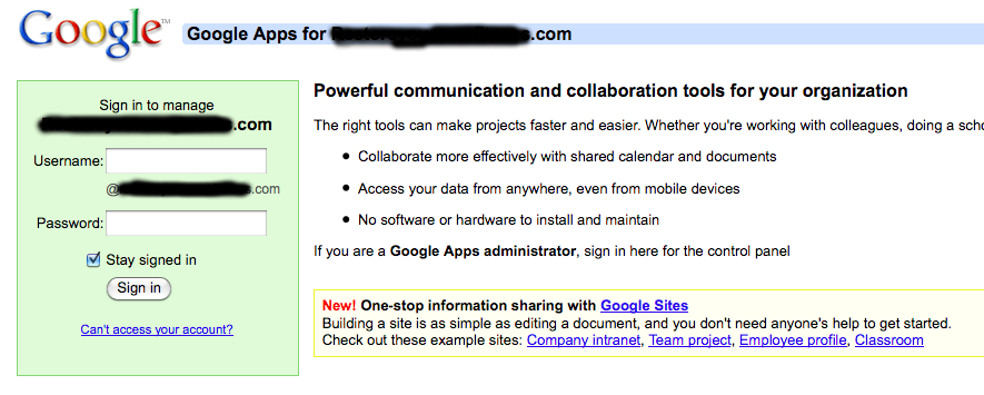 Google Apps Gmail for your own Domain Name: Step 7