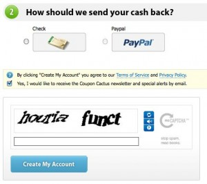 Create Account at Coupon Cactus for GoDaddy Coupons