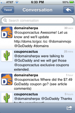 Coupon Cactus - DomainSherpa on Twitter