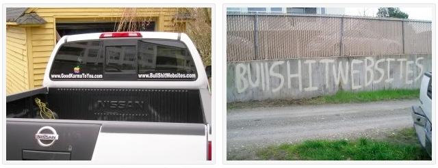 BullShitWebsites.com Karma-Truck and A Little Domain Name Graffiti