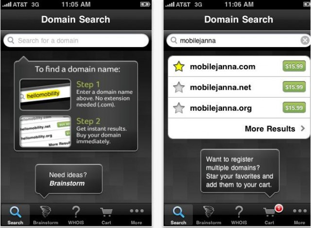 DomainStorm Domain Name iPhone App
