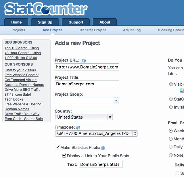 Web-Analytics-Real-Time-DomainSherpa