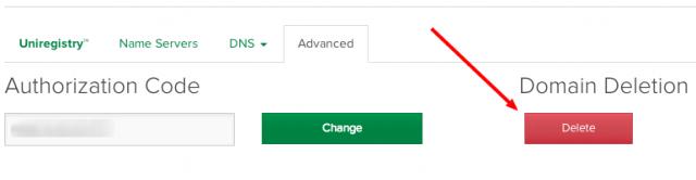 uniregistry-delete-domain-delete