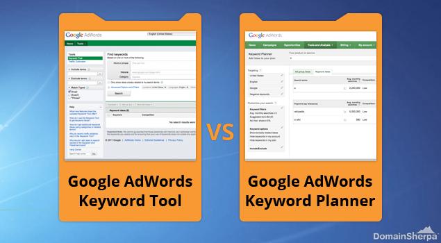 Google Adword Keyword Tool vs Google Adword Keyword Planner