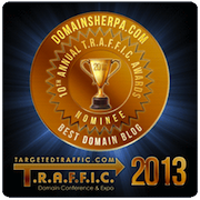 TRAFFIC Award Best Domain Name Blog 2013-2014