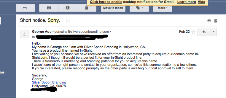 Initial Outbound Sales Email
