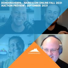 DomainSherpa – NamesCon Online Fall 2021 Auction Preview – September 2021