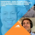 DomainSherpa – Down The Rabbit Hole – August 10, 2021: Domain Names as Digital Real Estate with Pedro de Noronha of Noster Capital