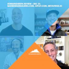 DomainSherpa Review – Dec 21: BainbridgeBuilders.com, Ziplet.com, Metaverse.io