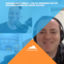 DomainSherpa Weekly – Jan 25: Preparing for the NamesCon Online 2021 Domain Name Auction with Joe Styler