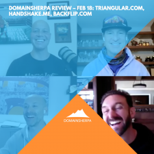 DomainSherpa Review – Feb 18: Triangular.com, Handshake.me, Backflip.com